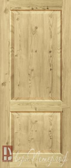 входные двухстворчатые двери из массива сосны